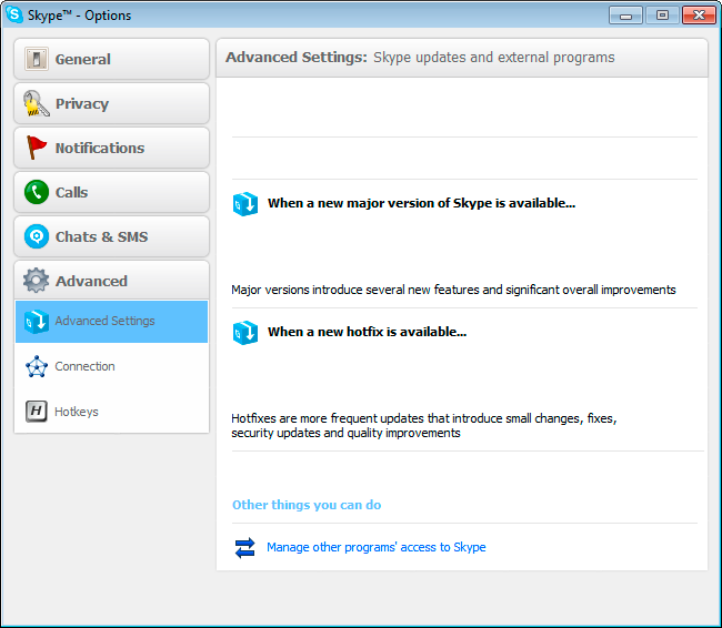 how to allow access to skype